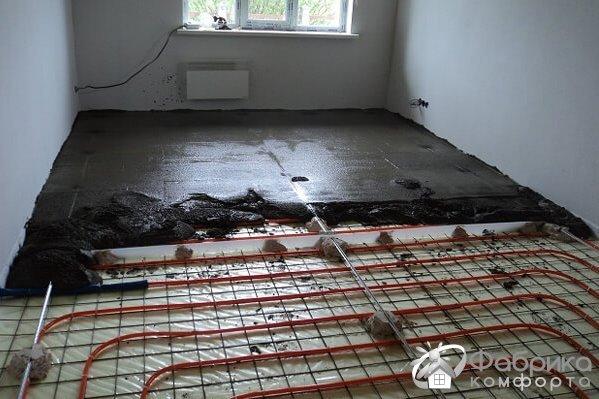 Укладання теплої підлоги в стяжку