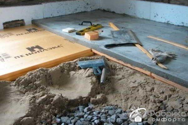 Технологія стяжки теплої підлоги по грунту