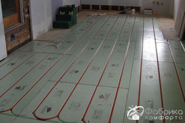 Водяна тепла підлога без стяжки
