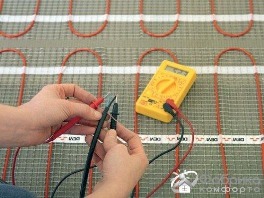 Перевірка теплої підлоги мультиметром