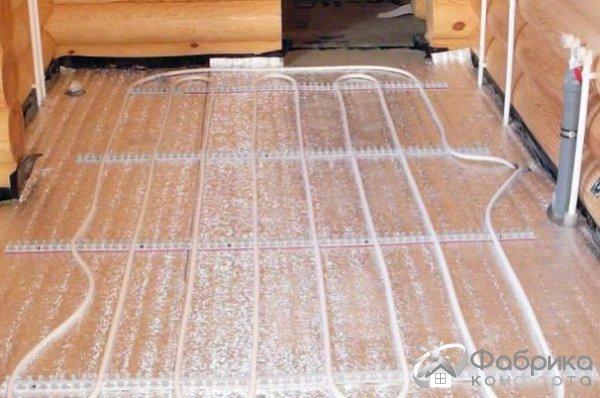 Тепла підлога в лазні від банної печі