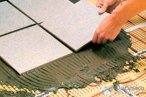 Укладання плитки на теплу підлогу