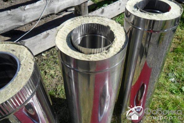 Сендвіч труба для димоходу - матеріали, монтаж