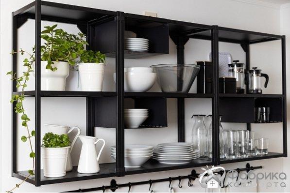 Открытые полки на кухне – стильно, практично, современно